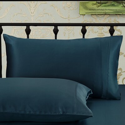 Pillow case Size: Queen, Color: Dark Teal