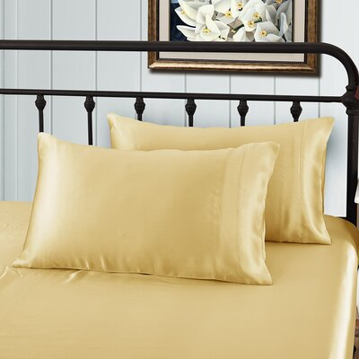 Pillow case Size: Queen, Color: Gold
