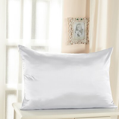 Pure Silk Pillowcase Size: 36 x 20, Color: White