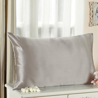 Pure Silk Pillowcase Size: 30 x 20, Color: Silver Gray