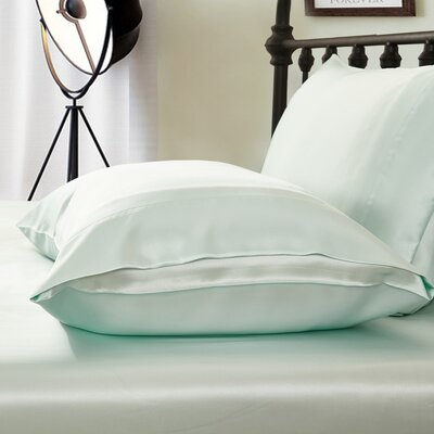 Pillowcase Size: Queen, Color: Pale Turquoise