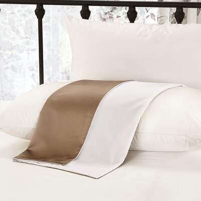19 Momme Silk Pillow Case Color: White, Size: 20 H x 26 W x 0.25 D