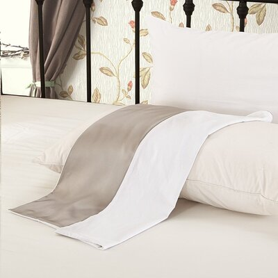 19 Momme Silk Pillow Case Color: Silver Gray, Size: 20 H x 36 W x 0.25 D