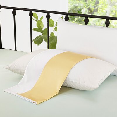 Holle 19 Momme Silk Pillow Case Size: 20 H x 30 W x 0.25 D, Color: Gold