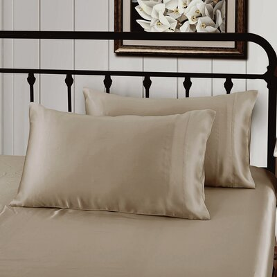 Solid Pillow Case Color: Taupe