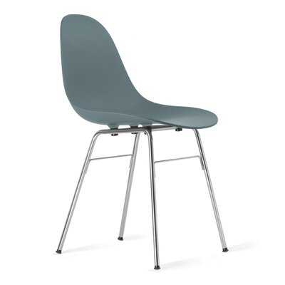 TA Side Chair Upholstery: Ocean Blue, Finish: Chrome Plated