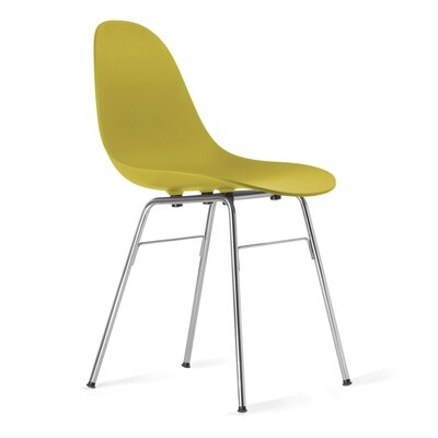 TA Side Chair Upholstery: Mustard, Finish: Chrome Plated