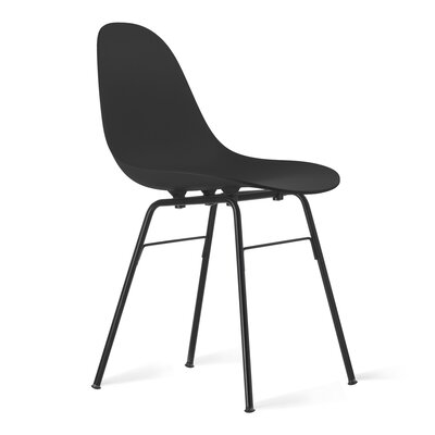 TA Side Chair Upholstery: Black, Finish: Black Powder