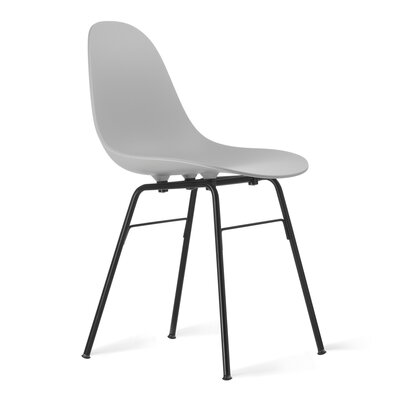 TA Side Chair Upholstery: Cool Grey, Finish: Black Powder