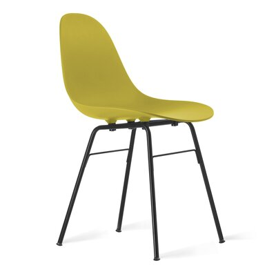TA Side Chair Upholstery: Mustard, Finish: Black Powder