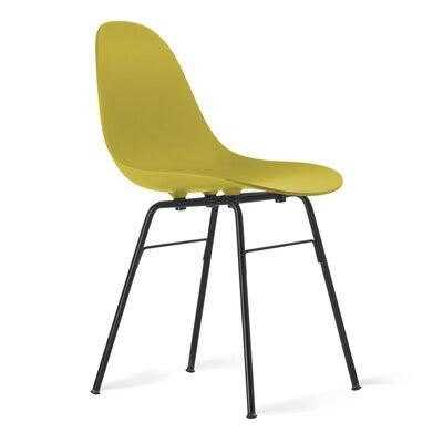 TA Side Chair Upholstery: Mustard, Finish: Black Powder
