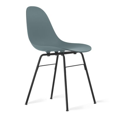 TA Side Chair Upholstery: Ocean Blue, Finish: Black Powder