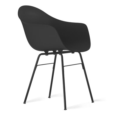 TA Arm Chair Upholstery: Black, Finish: Black Powder