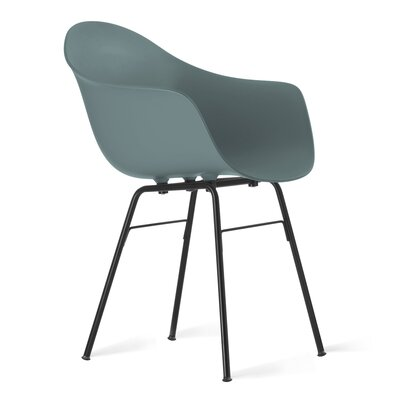 TA Arm Chair Upholstery: Ocean Blue, Finish: Black Powder