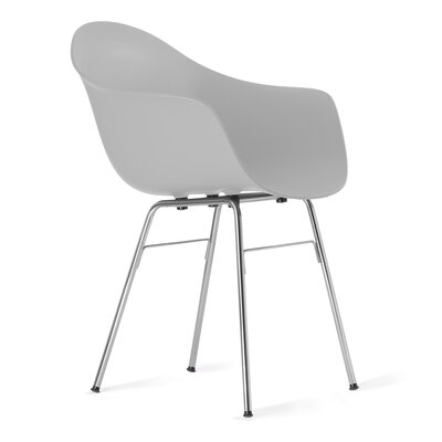 TA Arm Chair Upholstery: Cool Grey, Finish: Chrome Plated