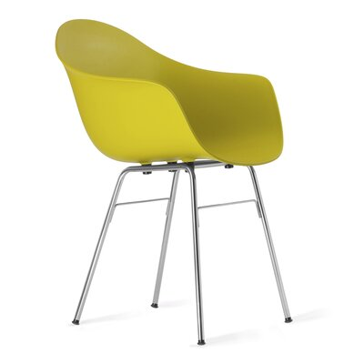 TA Arm Chair Upholstery: Mustard, Finish: Chrome Plated