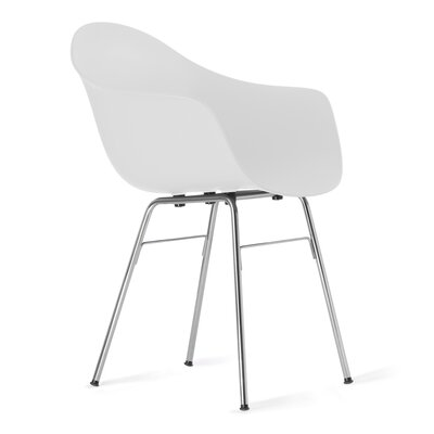 TA Arm Chair Upholstery: White, Finish: Chrome Plated