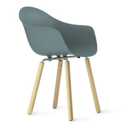 TA Arm Chair Upholstery: Ocean Blue, Finish: Natural Oak