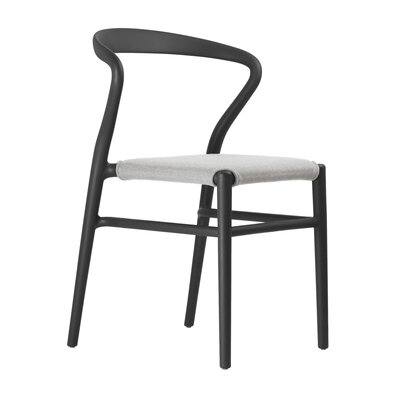 Joi Side Chair Upholstery: Sand, Finish: Black