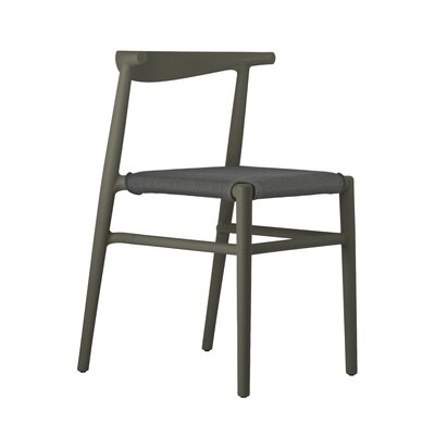 Joi Side Chair Upholstery: Antharacite, Finish: Dark Brown