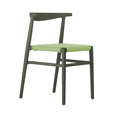 Joi Side Chair Upholstery: Lime, Finish: Dark Brown