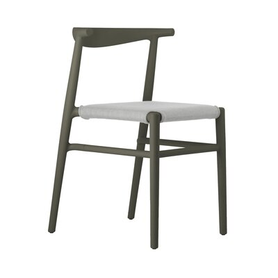 Joi Side Chair Upholstery: Sand, Finish: Dark Brown