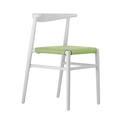 Joi Side Chair Upholstery: Lime, Finish: White
