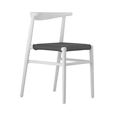 Joi Side Chair Upholstery: Antharacite, Finish: White