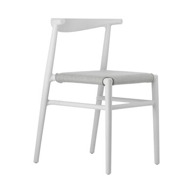 Joi Side Chair Upholstery: Sand, Finish: White