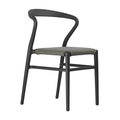 Joi Side Chair Upholstery: Coffee, Finish: Black