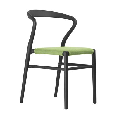 Joi Side Chair Upholstery: Lime, Finish: Black