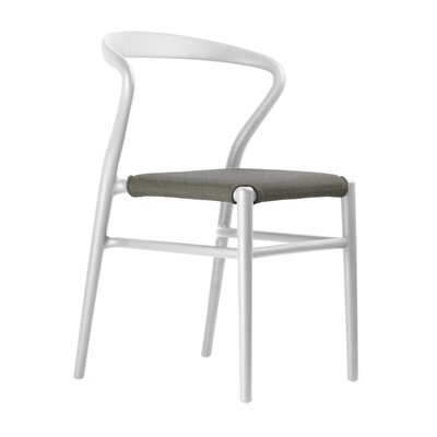 Joi Side Chair Upholstery: Coffee, Finish: White
