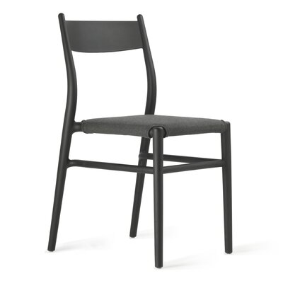 Joi Side Chair Upholstery: Antharacite, Finish: Black
