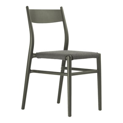 Joi Side Chair Upholstery: Coffee, Finish: Dark Brown