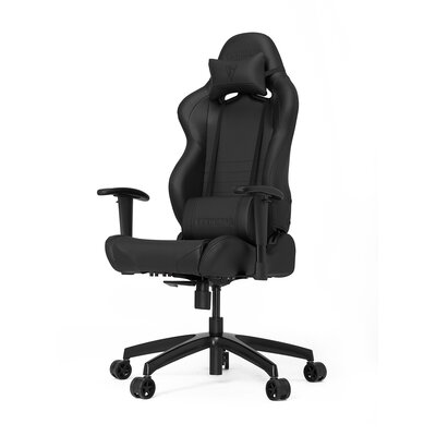 High-Back Gaming Office Chair with Arms Upholstery Color: Black/Carbon