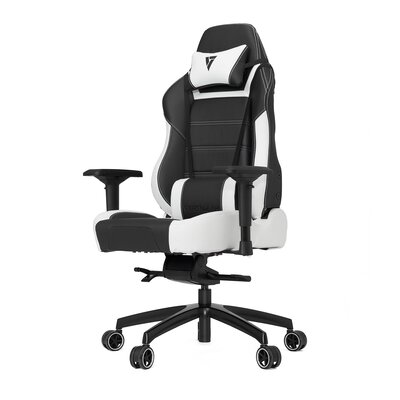 High-Back Gaming Office Chair with Arms Color: White