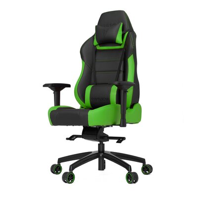 High-Back Gaming Office Chair with Arms Color: Green