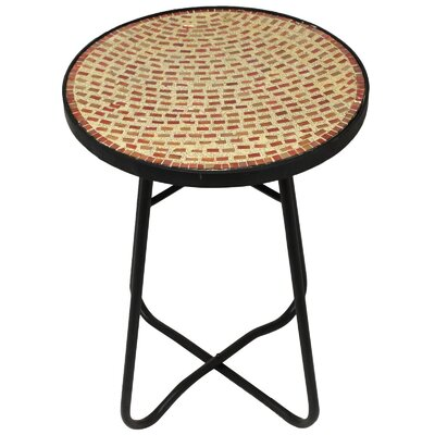 Brick Mosaic End Table