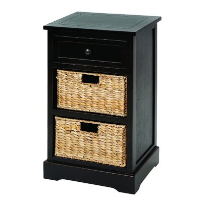 Malibu 3-Drawer Night Stand Color: Espresso