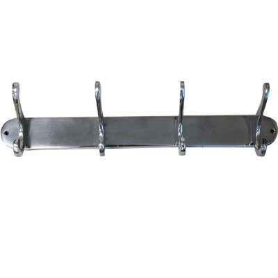 4 Hook Wall Mounted Coat Rack 7779572