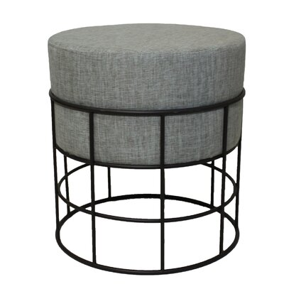 Round Ottoman Upholstery: Grey