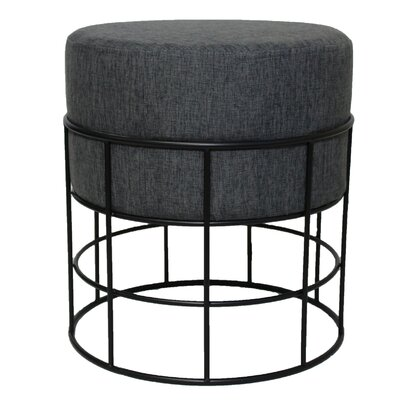 Ottoman Upholstery: Dark Grey