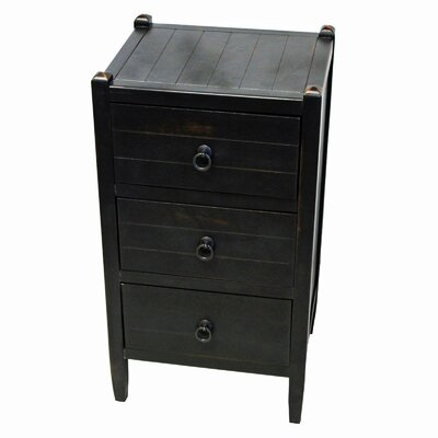 Lucerne 3 Drawer Nightstand