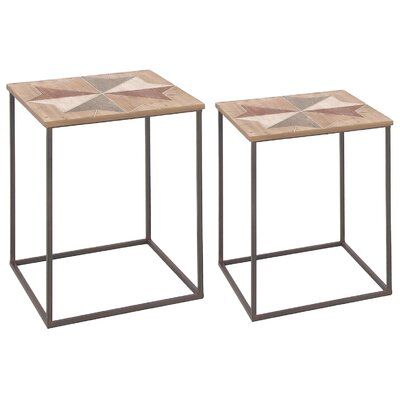 Rustic Cubed 2 Piece Nesting Tables