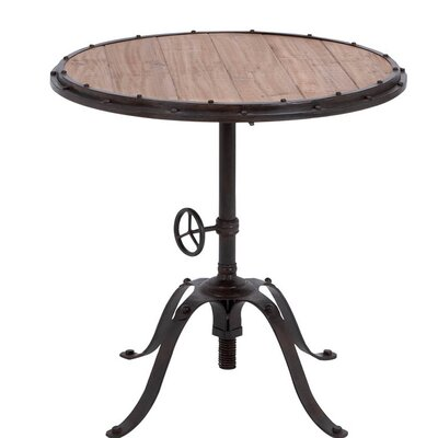 Handcrafted Industrial End Table