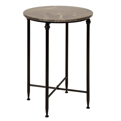 Dark Marble Top End Table