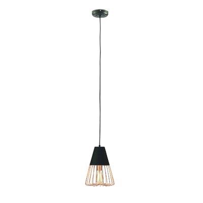 Remaley Accents Metal Hanging 1-Light Inverted Pendant VRKG6926 43109951