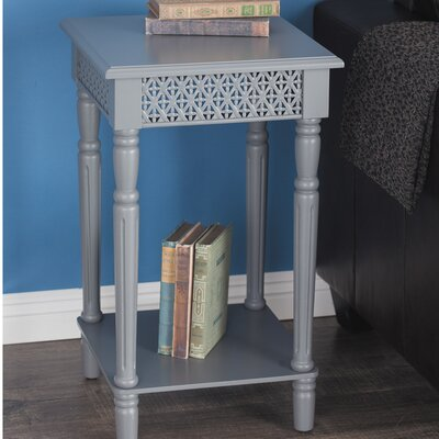 Berkshire Wood Square End Table Color: Gray