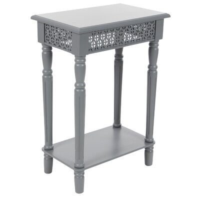 Berkshire Wood Rectangular End Table Color: Gray