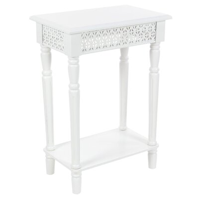 Berkshire Wood Rectangular End Table Color: White